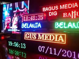 Jual Running Text di Jakarta
