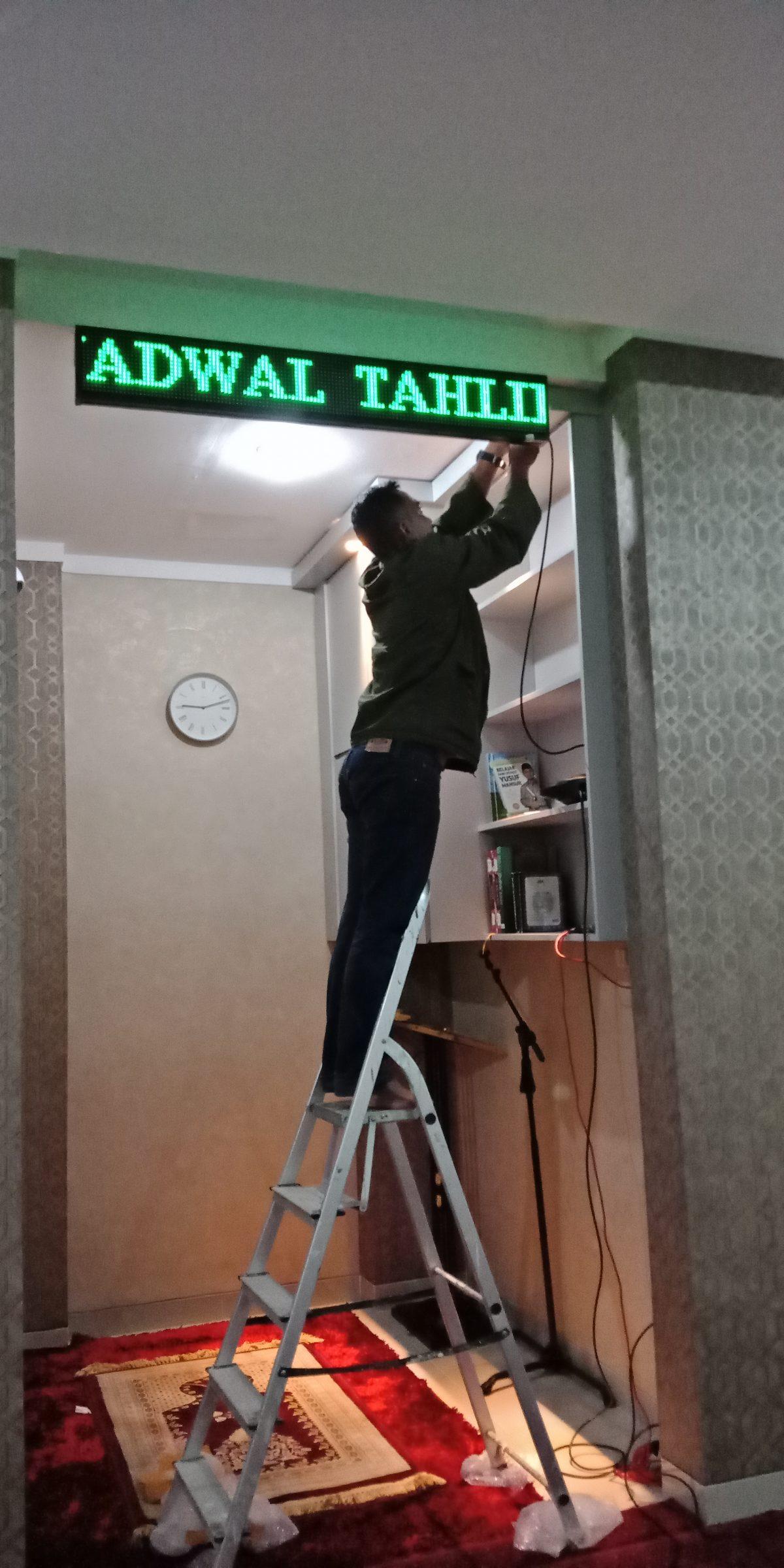 Jual Running Text Jadwal Sholat di Tangerang
