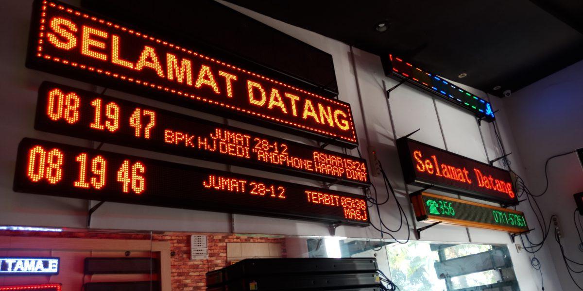Harga Running Text Jadwal Shalat di Tangerang
